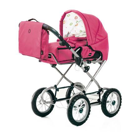 BRIO Kombi Wózek dla lalek z torbą na akcesoria do przewijania 24891392 kolor fuksja