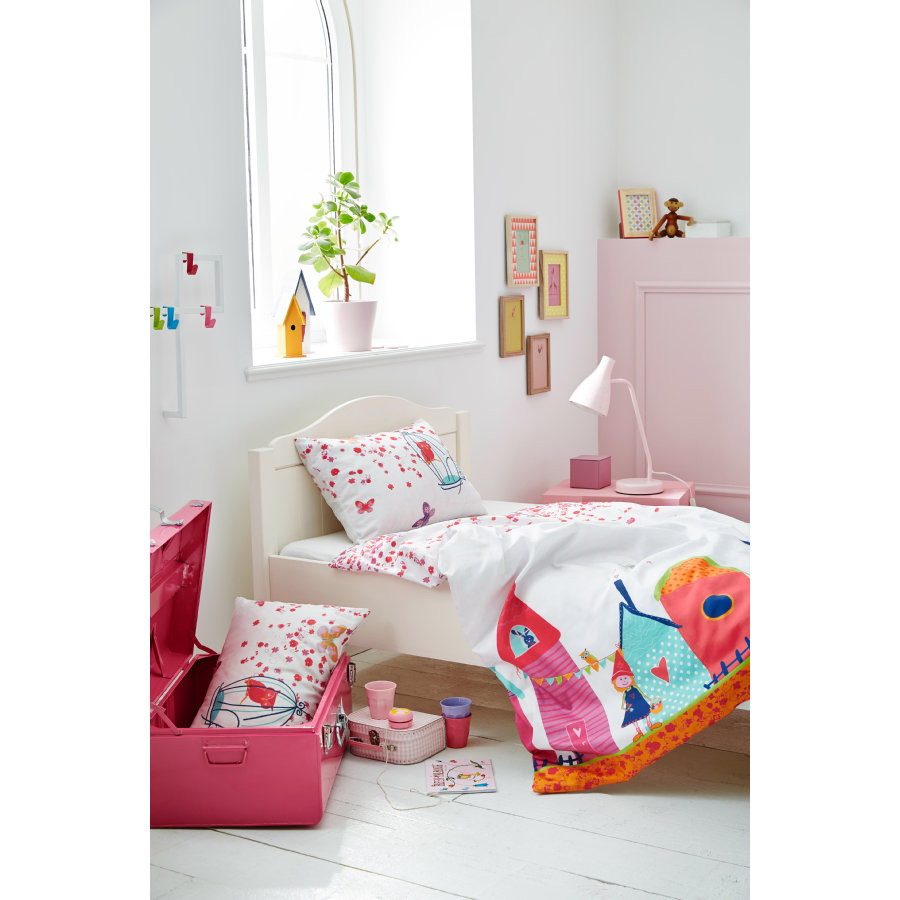 s oliver kinderbettw sche schloss pink 100x135 cm. Black Bedroom Furniture Sets. Home Design Ideas