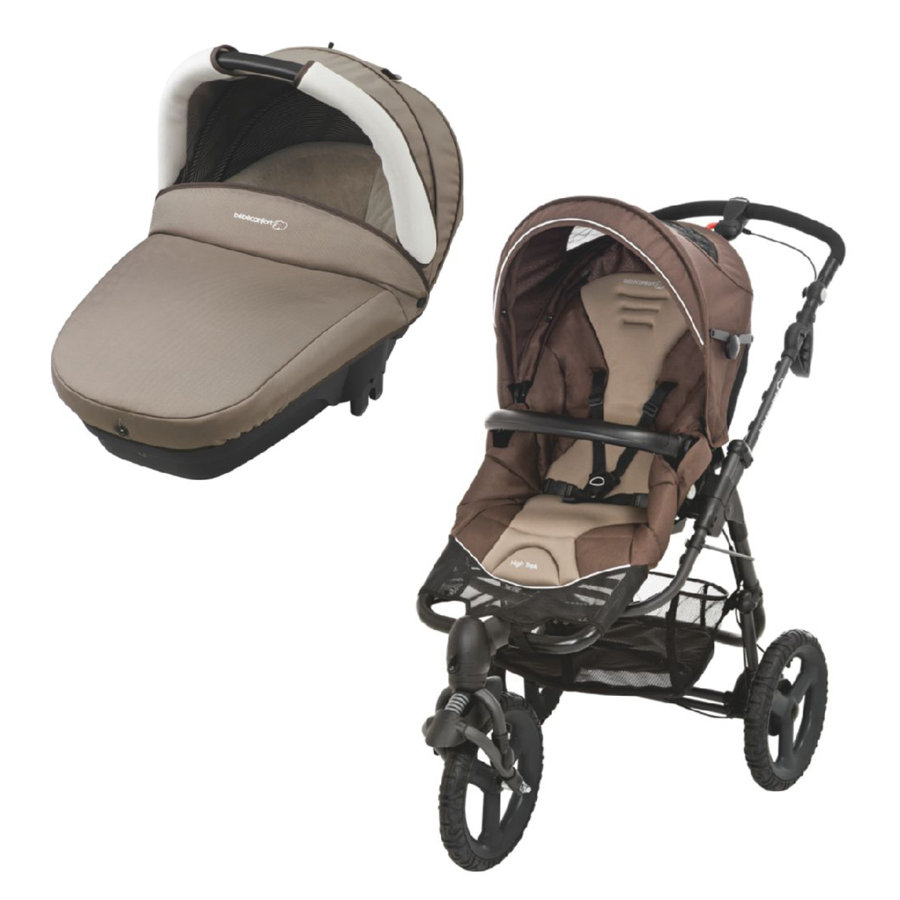 Bébé Confort Duo Nacelle compacte + Poussette 3 roues High Trek Earth Brown
