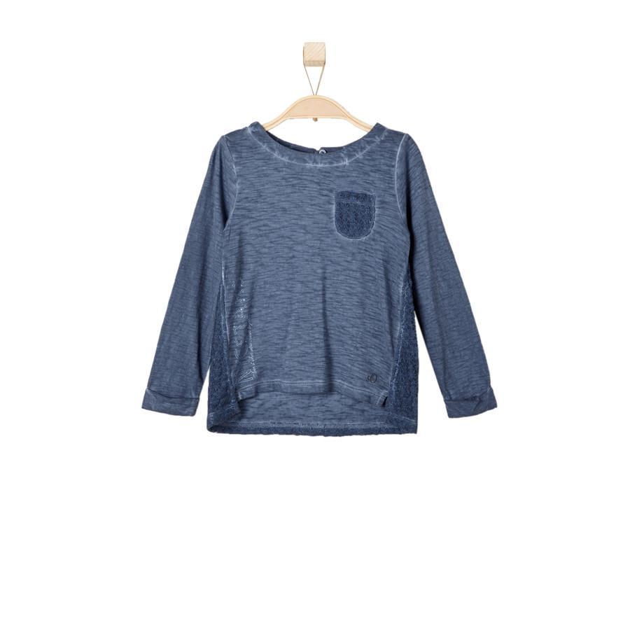 s.OLIVER Girl s Manica lunga blu