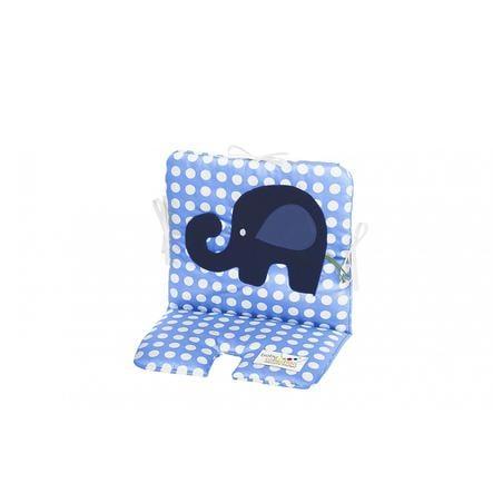 odenwälder Coussin d'assise chaise haute bébé funny fant pois bleu azur