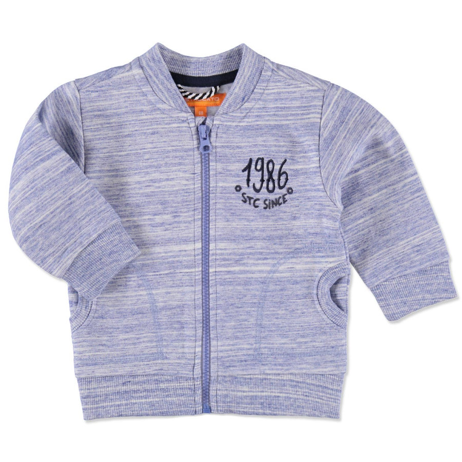 "STACCATO Boys Bluza ""Baby Sweat Jacket blue Strucuture""."