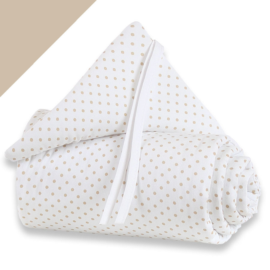 babybay Nestchen Midi / Mini Punkte sand