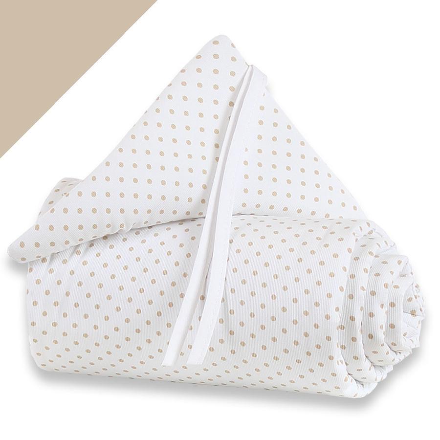 BABYBAY Paracolpi per lettino co-sleeping Midi / Mini pois beige