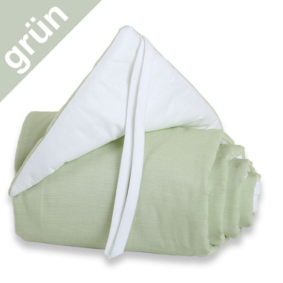 TOBI BABYBAY Mini / Midi hnízdo do postýlky - zeleno-bílé