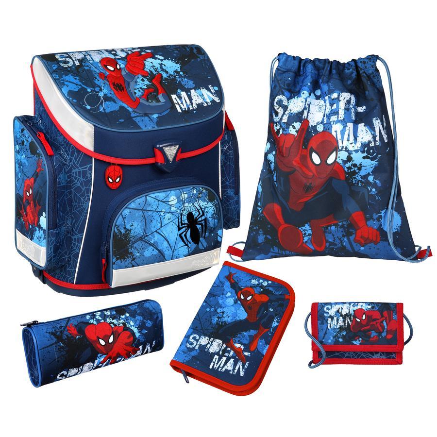 Scooli Campus Plus Schulranzen-Set, 5-teilig - Spider-Man