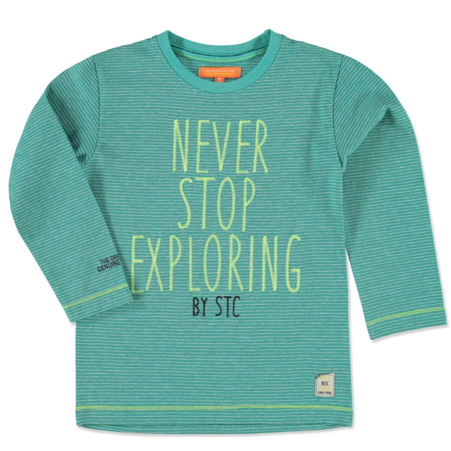 STACCATO Boys Mini Shirt green gestreift