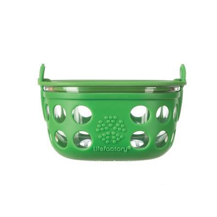 Lifefactory Skleněná nádoba na úschovu jídla grass green 240 ml