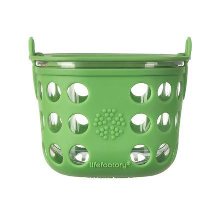 LIFEFACTORY Boîte de conservation, verre, grass green, 475 ml