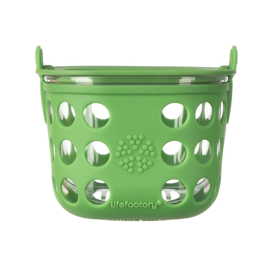 Lifefactory Glazen bewaarbox grass green 475ml