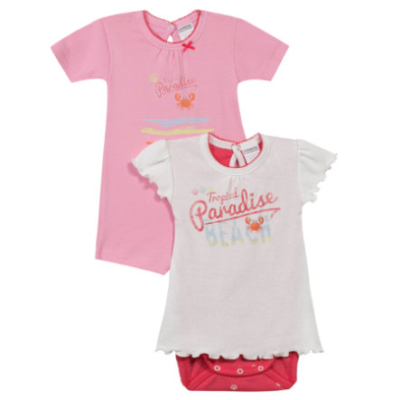 ABSORBA Girls Baby Bodies 2-er Pack rosé