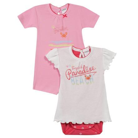 ABSORBA Girls Baby Bodies 2-er Pack rosé/weiß