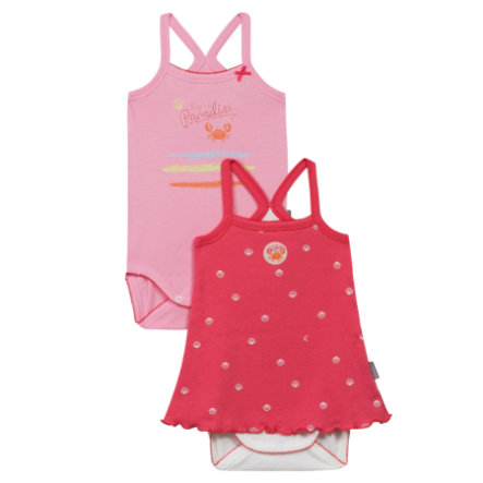 ABSORBA Lot de 2 bodies bébé, Fille, rosé