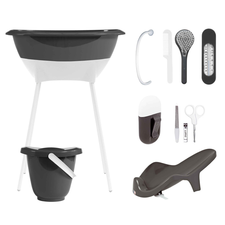 LUMA Bath Set - Dark Grey