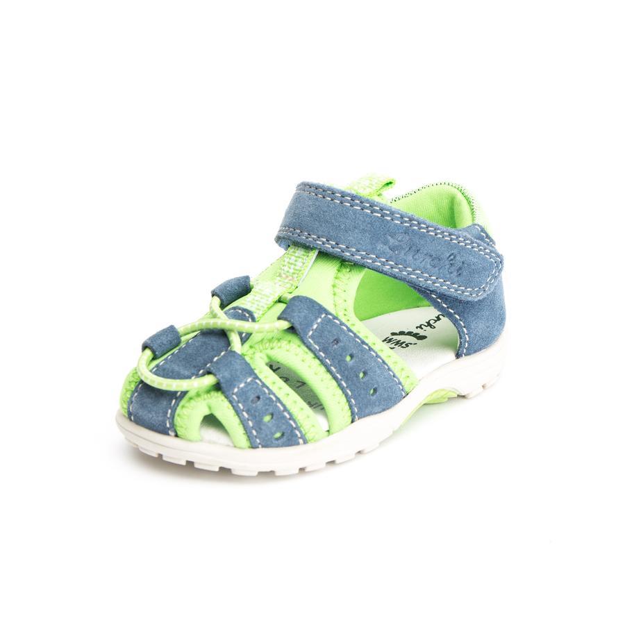 Lurchi Boys Sandales MAXY II jeans vert (moyen)
