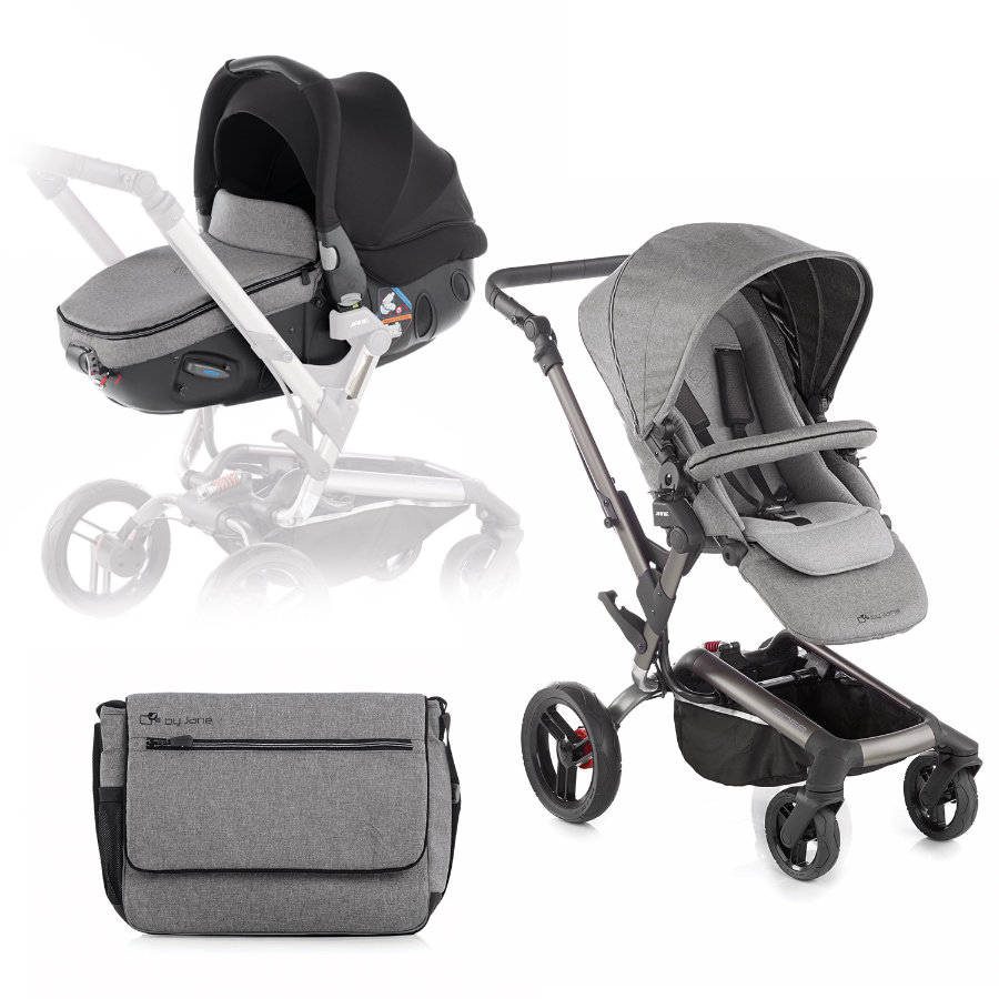 JANE Sportwagen 4-Rad Rider inklusive Babyschale Matrix Light 2 Soil