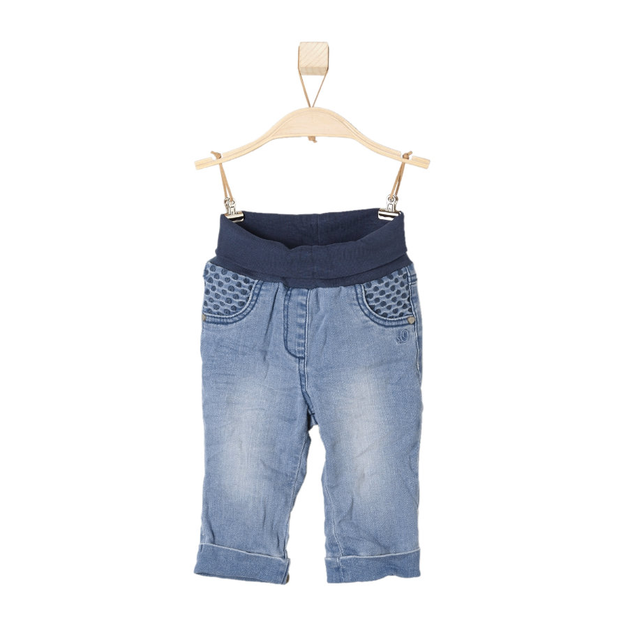 s.OLIVER Girls Mini Spodnie Jeans blue denim stretch