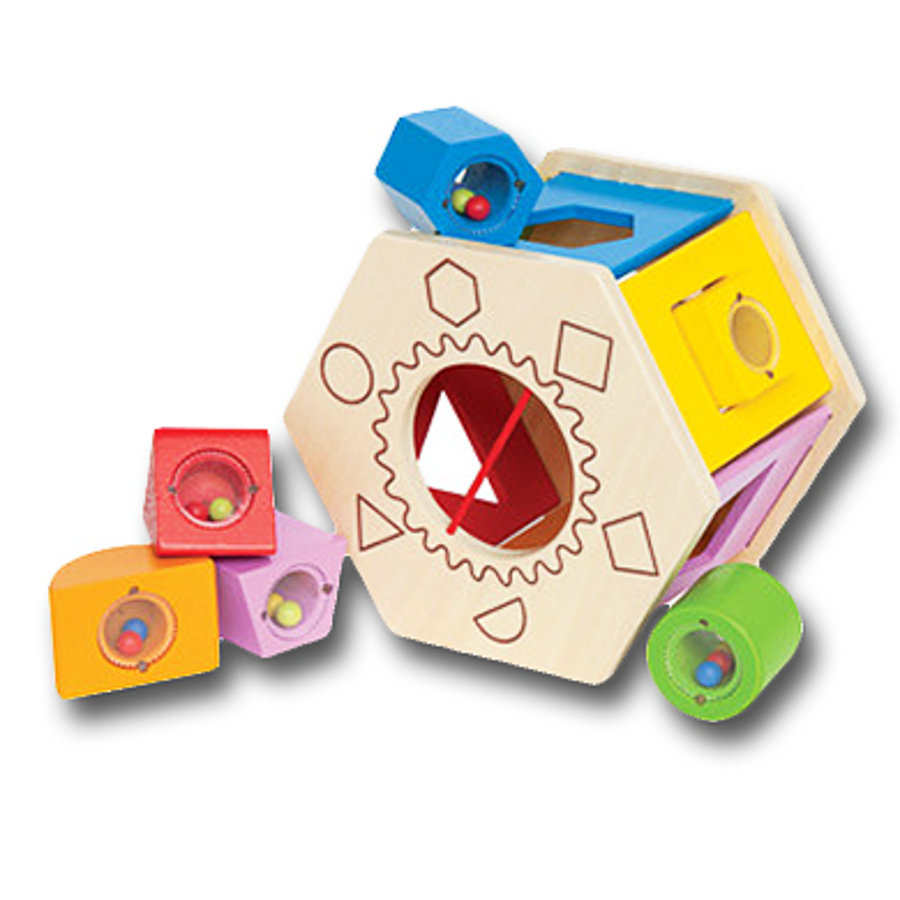 Hape Boîte à formes Shake & Match 7 pièces E0407