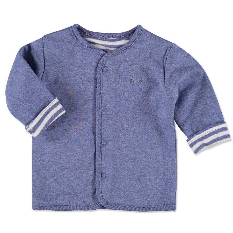 FEETJE Boys Veste réversible bébé, rayures, bleu clair