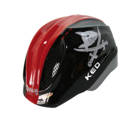 KED Casque de vélo enfant Meggy Original Sharky Red T. S, 46-51 cm