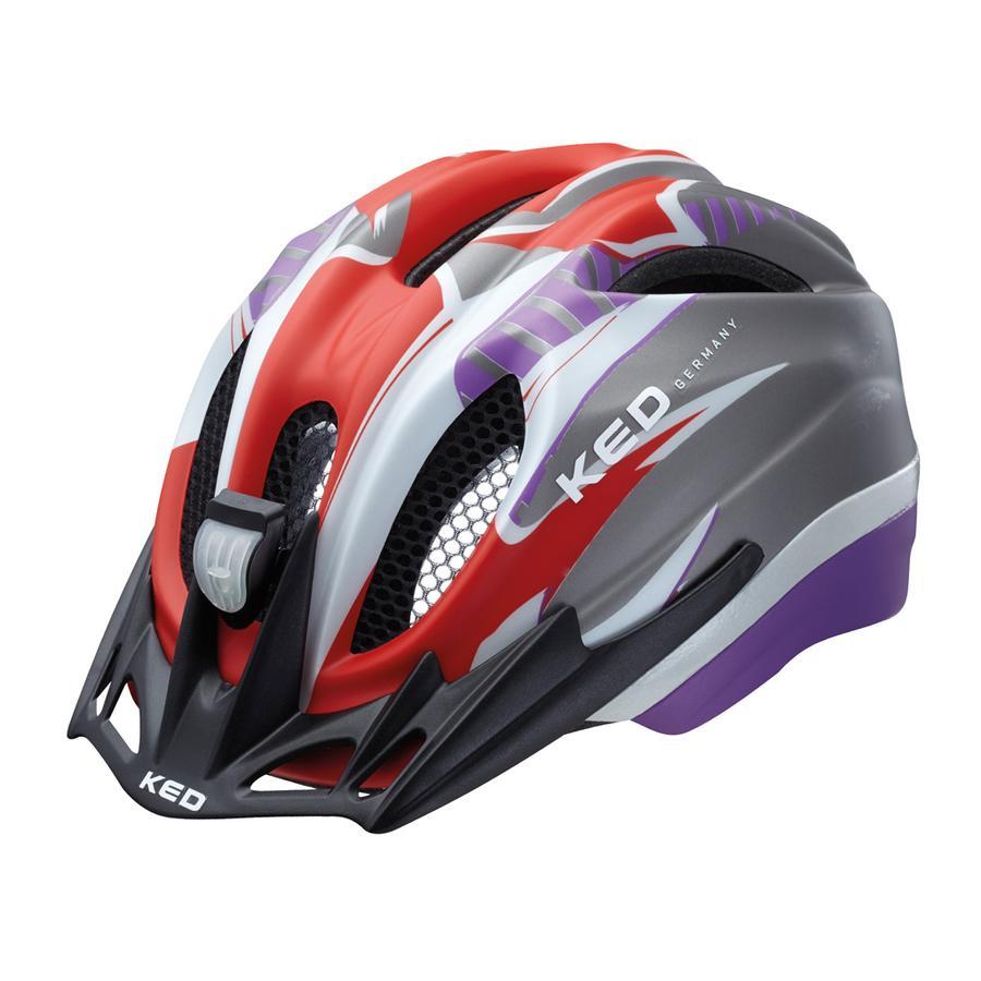 KED Casque de vélo enfant Meggy Reflex Red Violet Matt T. S/M, 49-55 cm