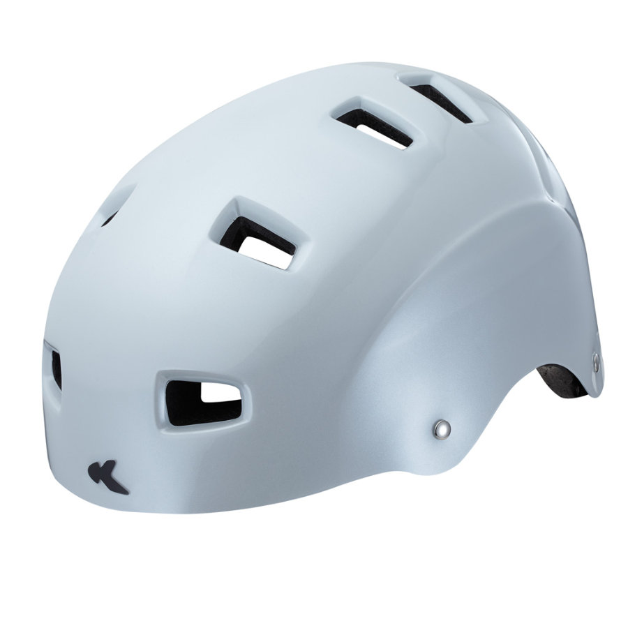 KED Casque de skateboard enfant 5Forty White T. L, 57-62 cm