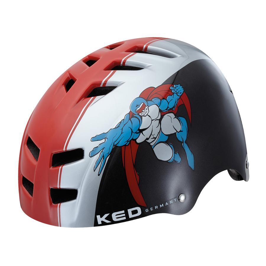 KED Kinder Fahrradhelm Control Red Black Größe S 49-53 cm