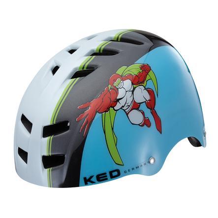 KED Casque de vélo enfant Control Pearl Lightblue T. S, 49-53 cm