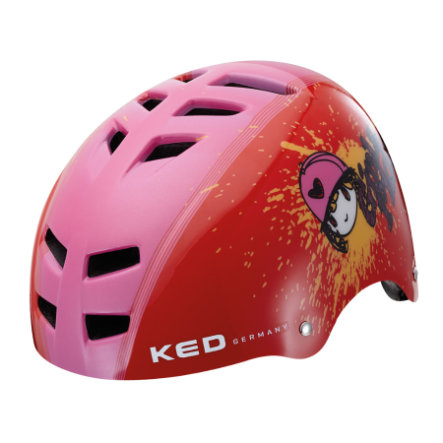 KED Casque de vélo enfant Control Red Girls Ride T. S, 49-53 cm