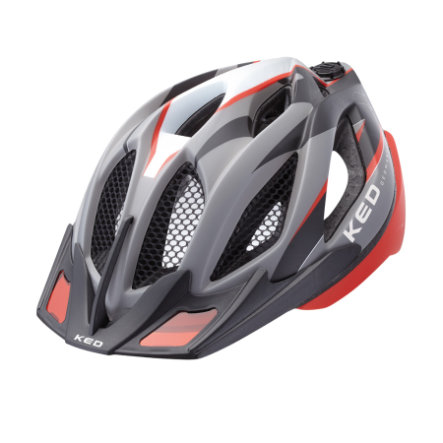 KED Cykelhjälm Spiri Two Red Black matt Stl. L 55-61 cm