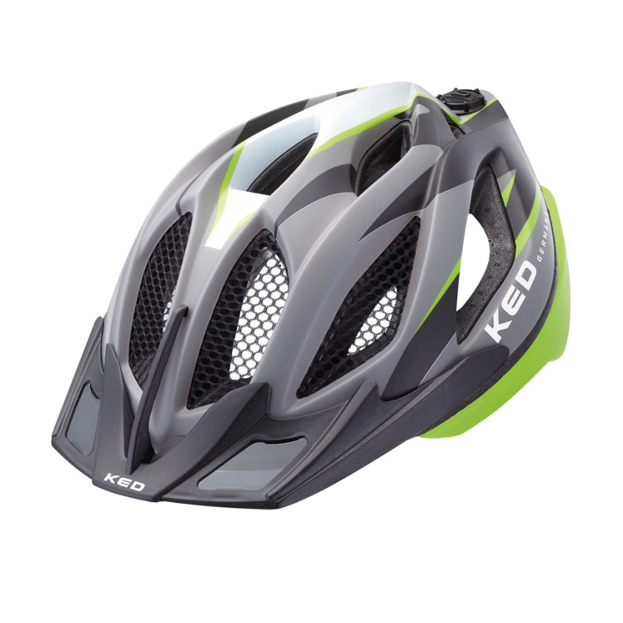 KED Cykelhjälm Spiri Two Green Black matt Stl. M 52-58 cm