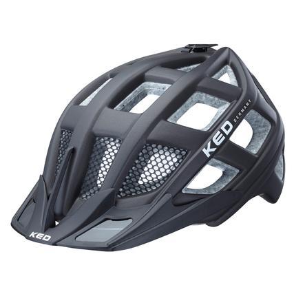 KED Casque de vélo enfant Crom Black Matt T. M, 52-58 cm