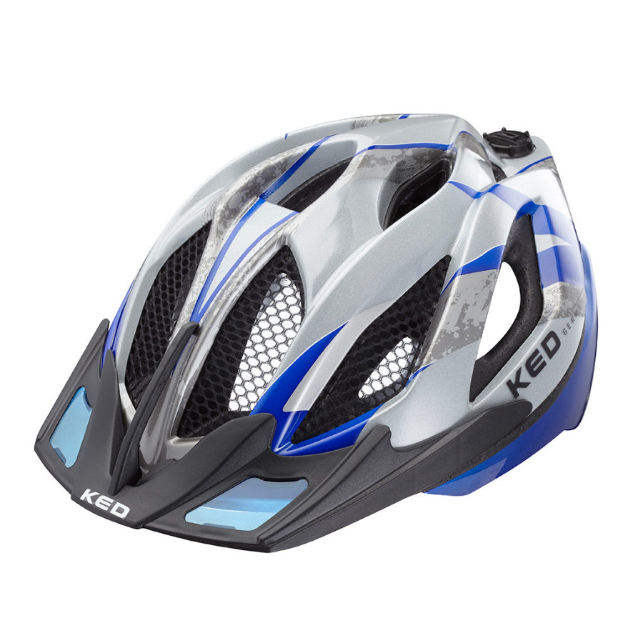 KED Casque de vélo enfant Spiri Two K-Star Blue T. M, 52-58 cm