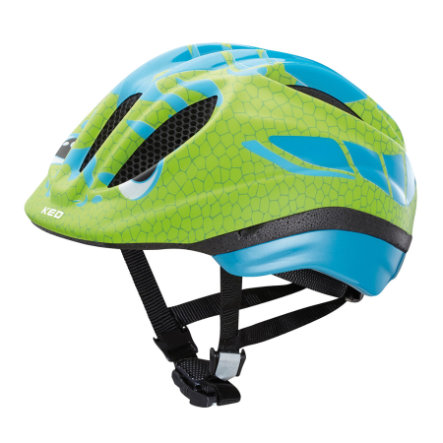 KED Casque de vélo enfant Meggy Reptile Dino Lightblue Green T. S, 46-51 cm