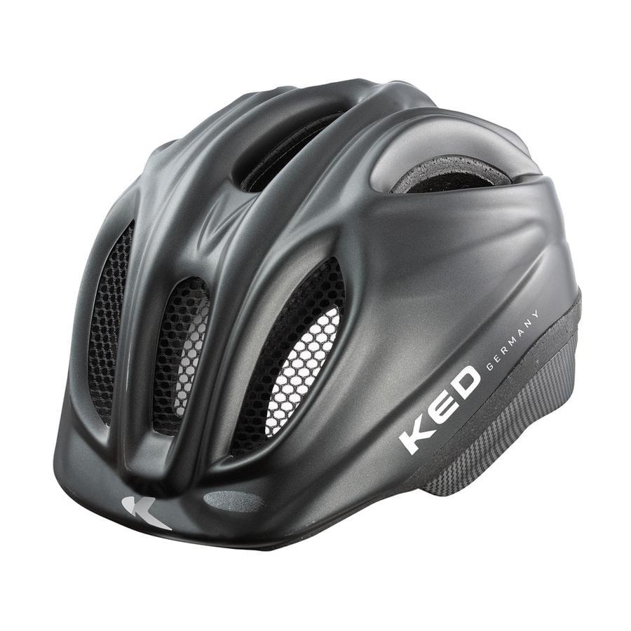 KED Kinder Fahrradhelm Meggy Black matt Größe XS 44-49 cm