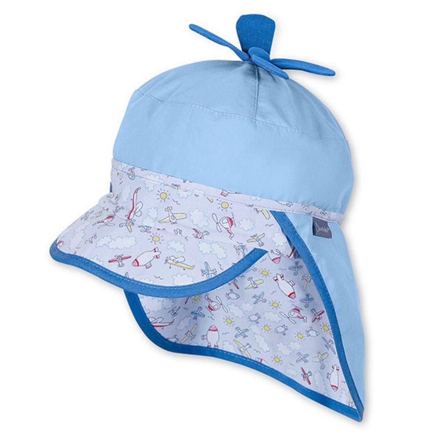 STERNTALER Boys Čepice s kšiltem a ochranou týlu modrá