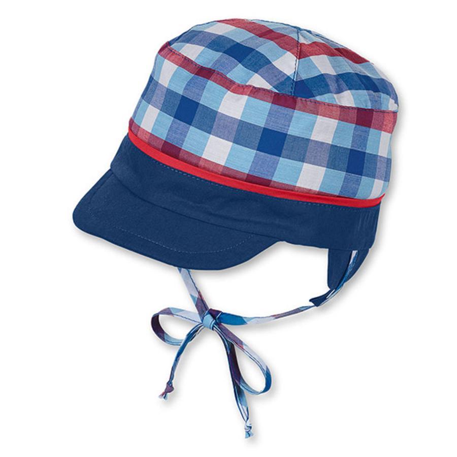 STERNTALER Oboustranná čepice s kšiltem modrá