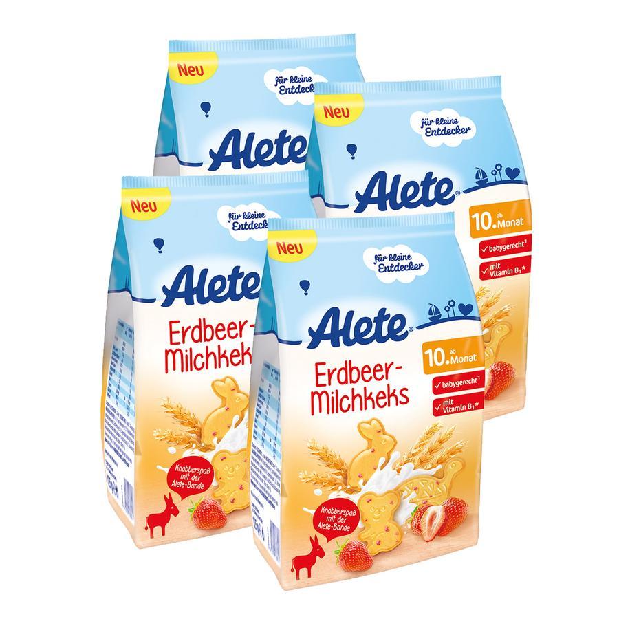ALETE Keks Erdbeer Milch 4x125g