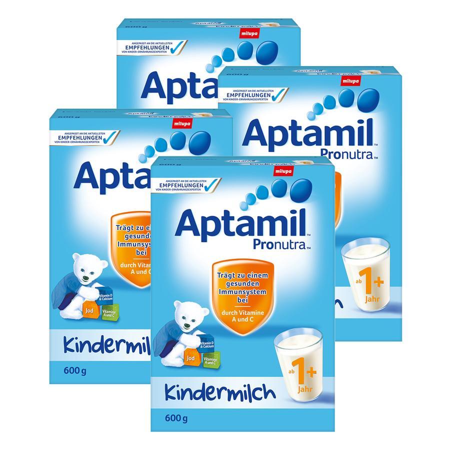 Aptamil Kindermilch 1+ 600 g - 4 Stück