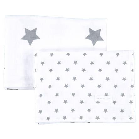 BELLYBUTTON Baby Set Fazzoletti Stars, 2 pezzi bianco