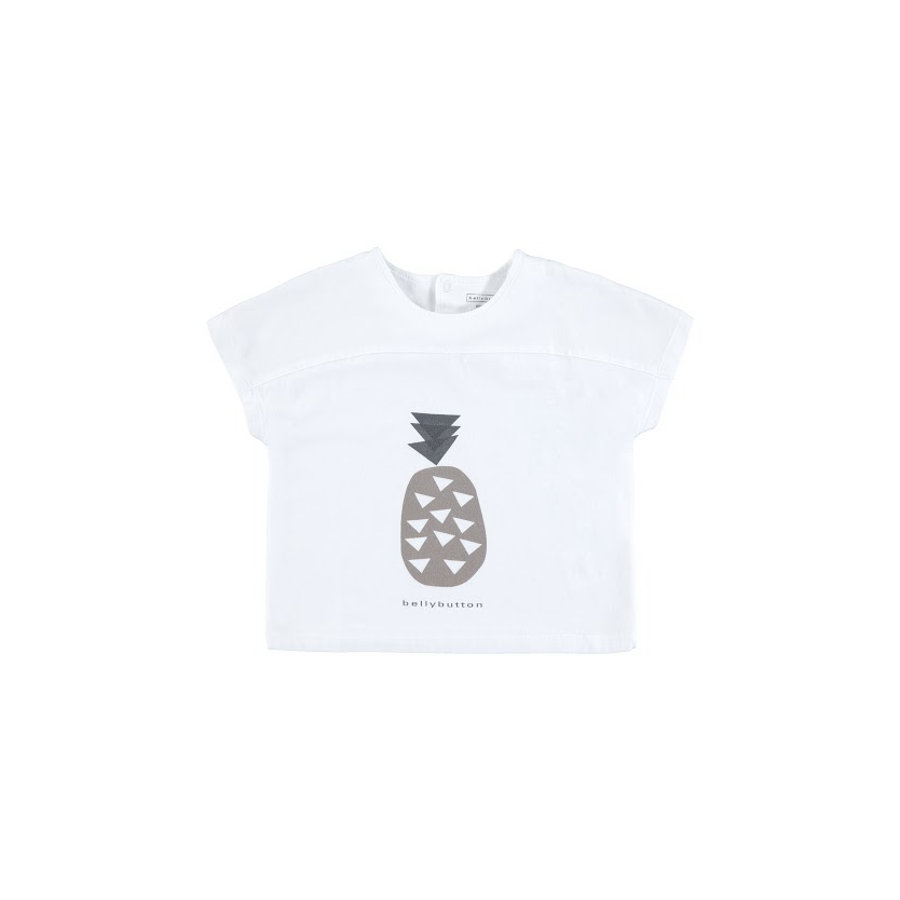 BELLYBUTTON Dziecko T-Shirt jaskrawo-białe