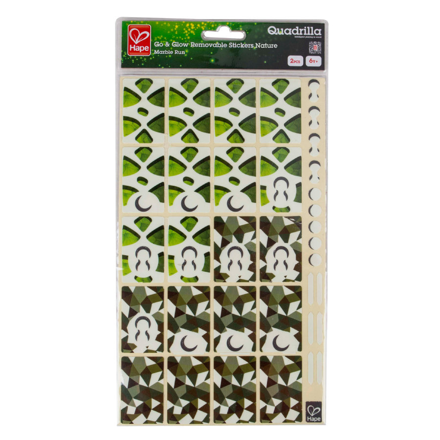 HAPE Quadrilla Pista - Stickers fluorescenti Natural E6040