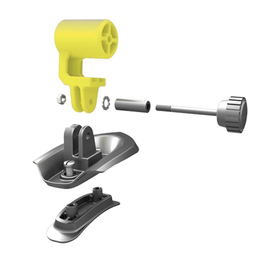 KED Fixation pour caméra sur casque de vélo Trailon, jaune