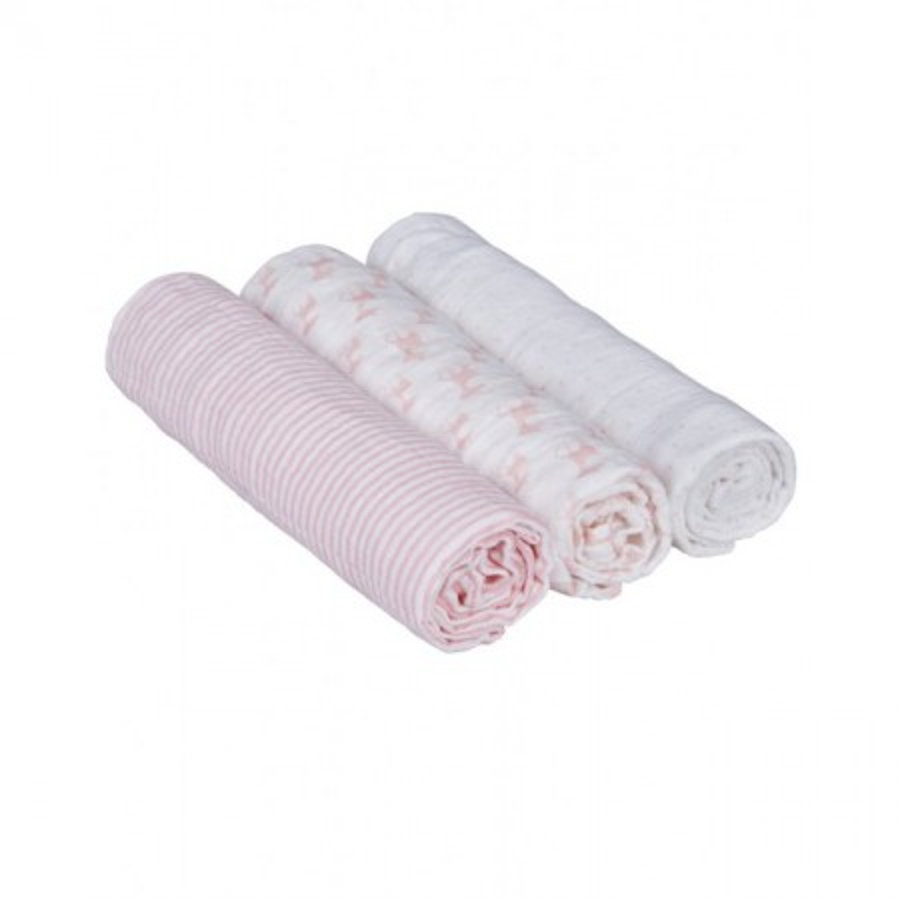 LÄSSIG Stoffa multiuso Swaddle & Burp Lela light blue, colore rosa