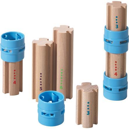 HABA Set pilastri per binari in legno Kullerbü 300850