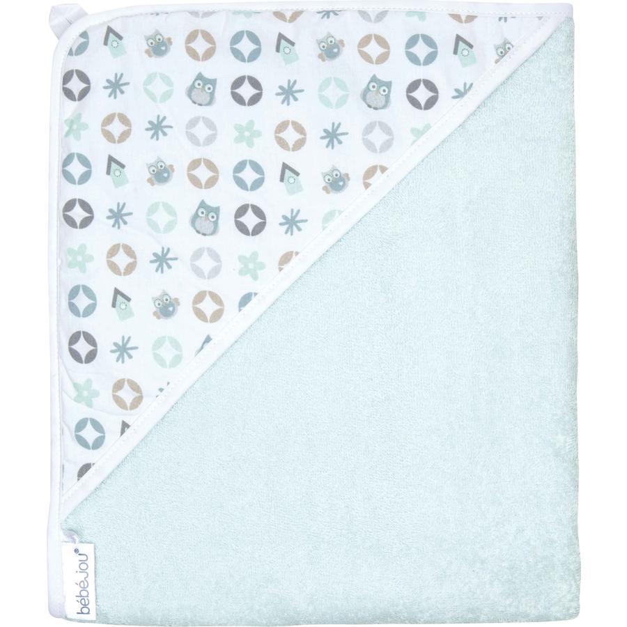 BEBE JOU Ręcznik kąpielowy z kapturem Owl Family 85x75 cm