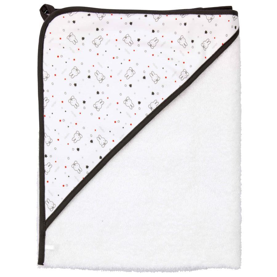 BEBE JOU Serviette de bain à capuche Miffy Stars, 85 x 75 cm