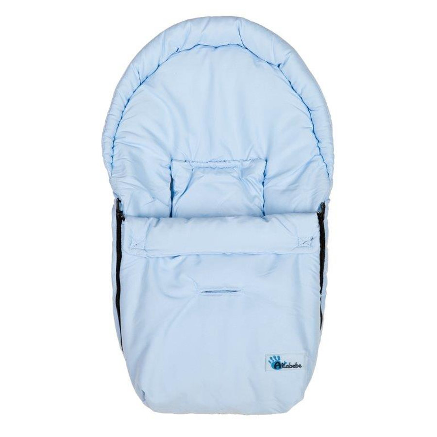 Altabebe Sommerfußsack Mikrofiber Babyschale hellblau