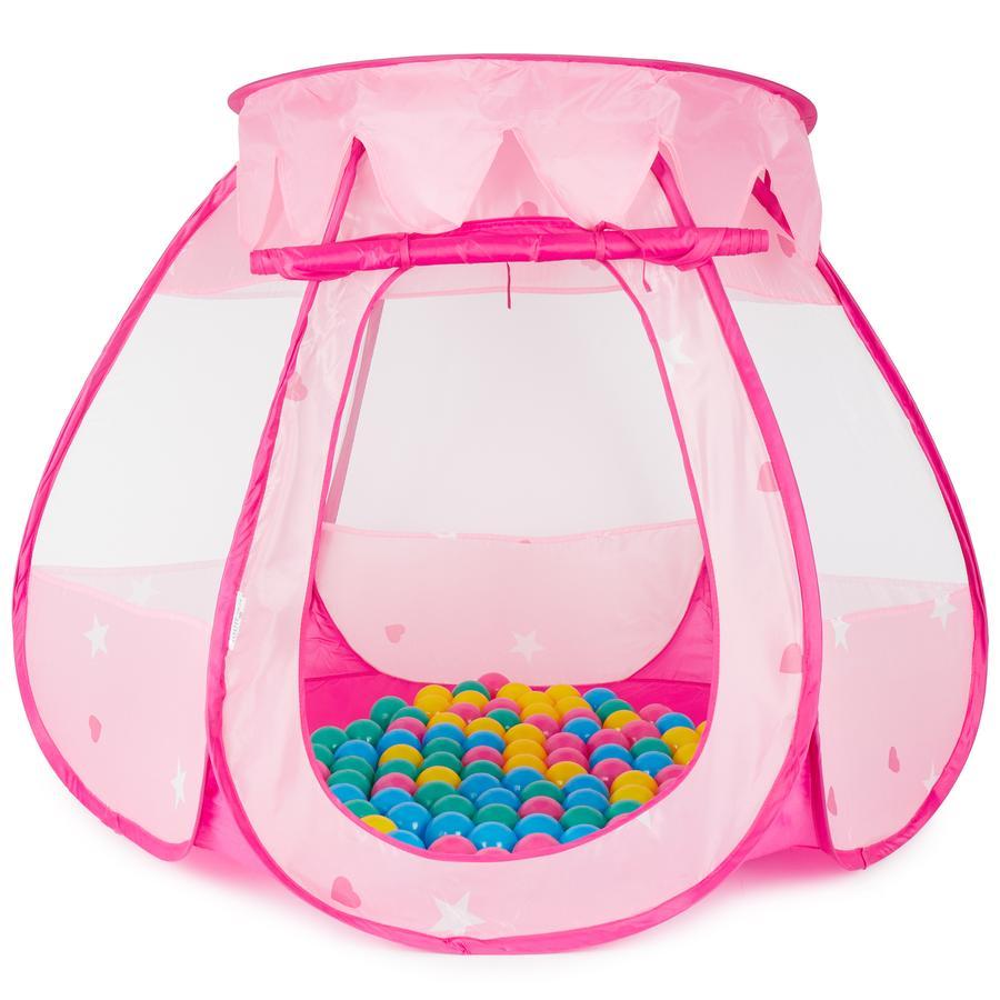 BIECO Spielhaus Prinzessinnen Palast mit 100 Spielbällen