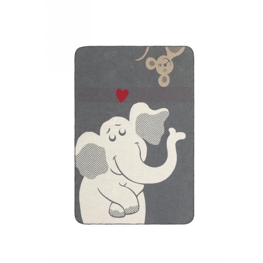 IBENA Jacquardfilt 70x100 cm - Elefant